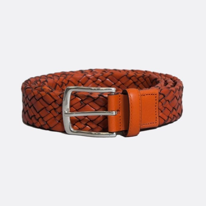 Far Afield Woven Leather Belt
