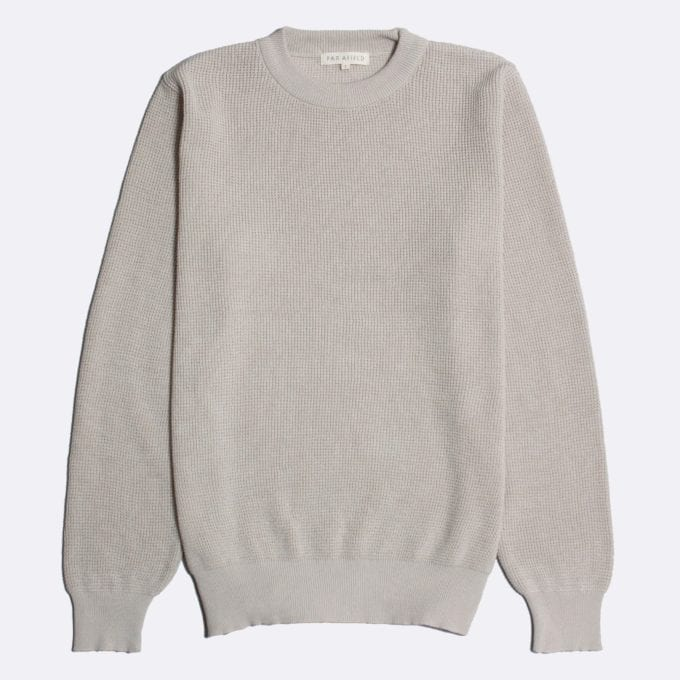 Far Afield Zaca Crew Neck Knit a Pumice Stone Organic Cotton Classic Fabric Jumper Casual