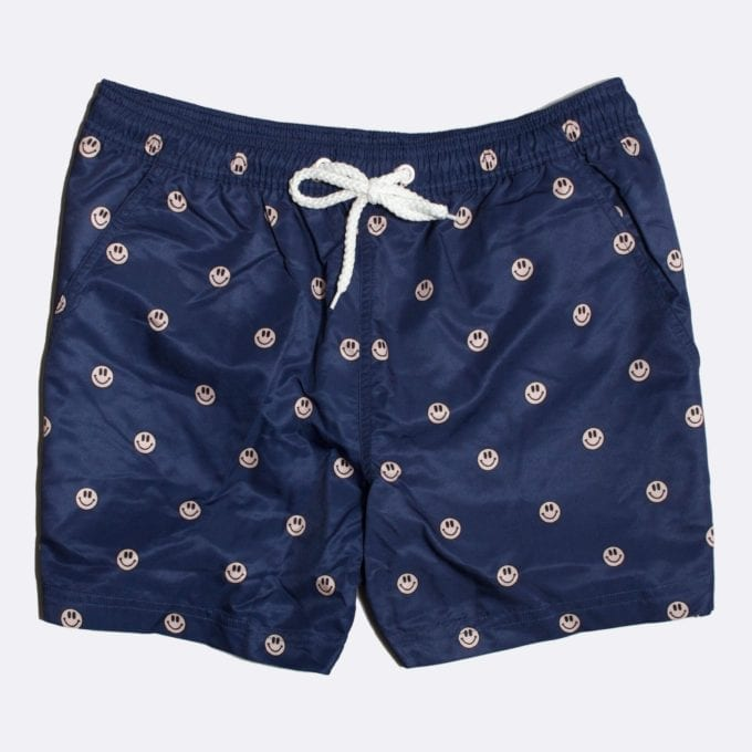 Far Afield Acid Smile Print Swim Shorts