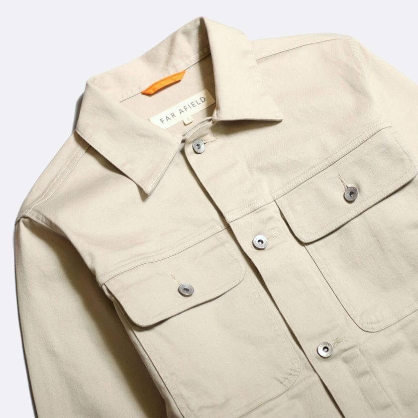 Far Afield Watts Jacket a Pumice Stone BCI Cotton/Cotton Twill Fabric Trucker Casual Work 2