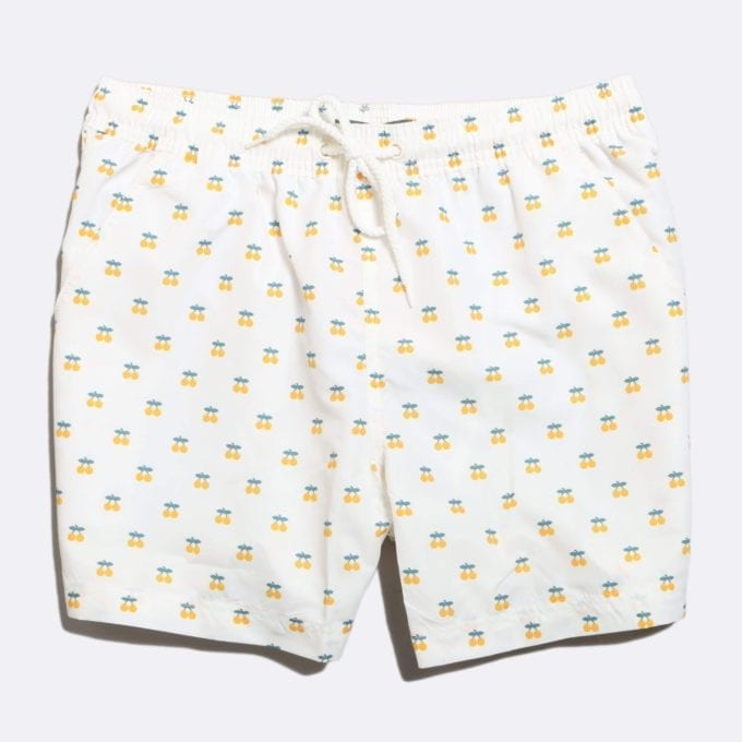 Far Afield x Selfridges Oranges Print Swim Shorts