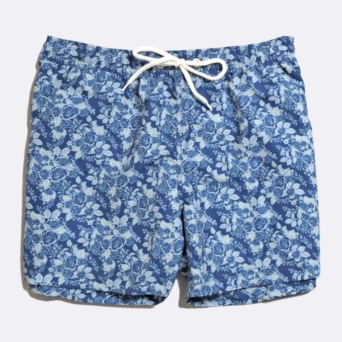 Far Afield x Selfridges Rose Print Swim Shorts