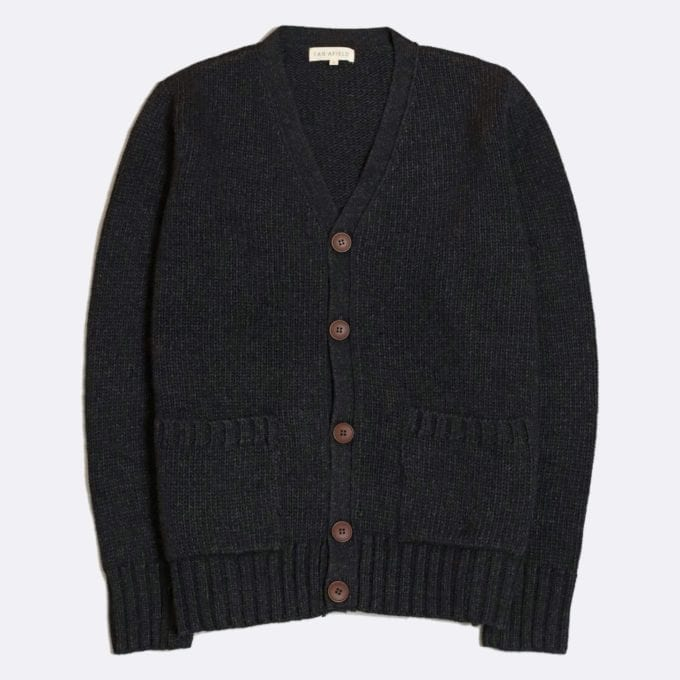 Far Afield Buckley Cardigan a Espresso GreyKnitted Jumper Smart Casual