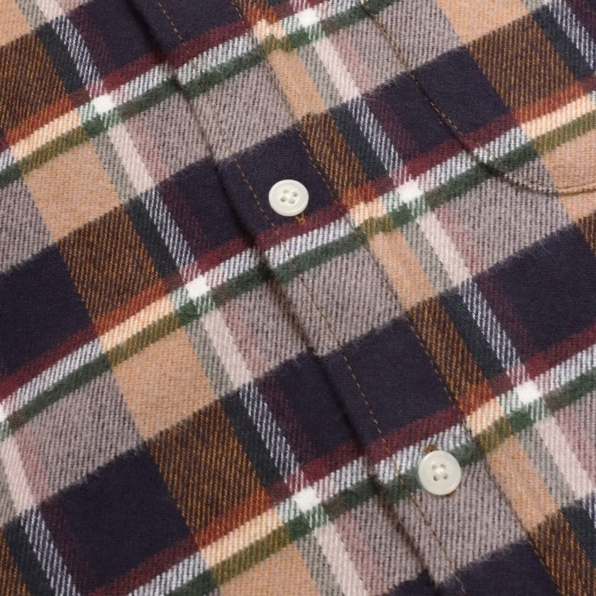 Far Afield Larry Long Sleeve Shirt a Baikal Check BCI Cotton Fabric/Cotton Flannel Work Lumberjack Check Casual 6