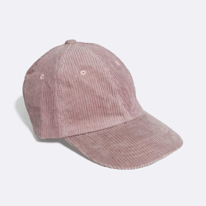 Far Afield Carlos Cap a Plum Pink Organic Cotton Corduroy Fabric Baseball Hat 5 Panel