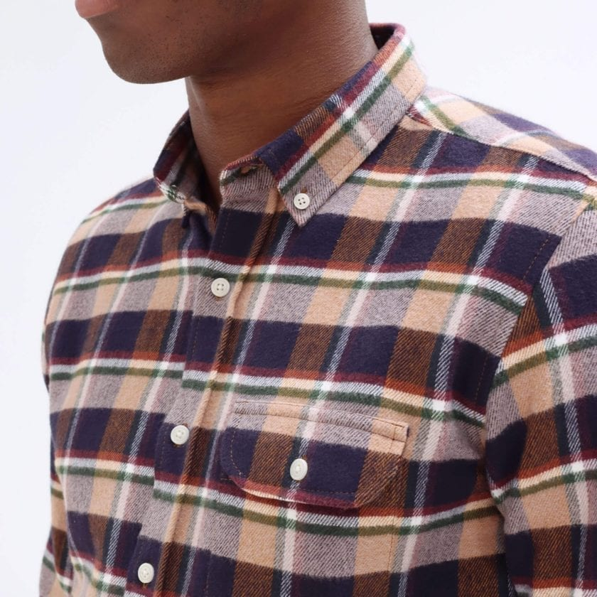 Far Afield Larry Long Sleeve Shirt a Baikal Check BCI Cotton Fabric/Cotton Flannel Work Lumberjack Check Casual 4