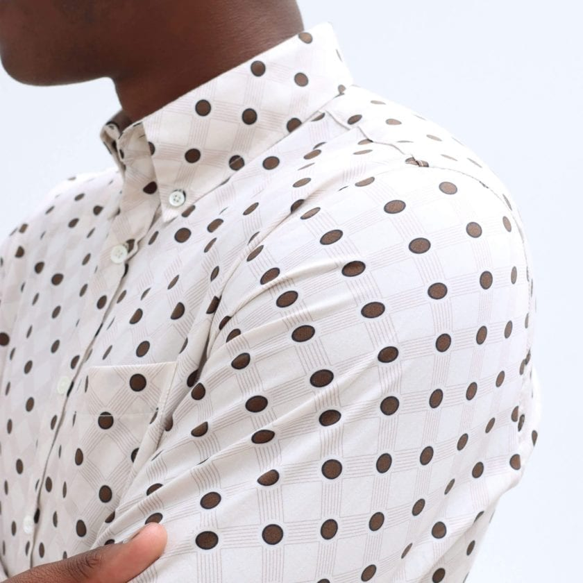 Far Afield Mod Button Down Long Sleeve Shirt a White Organic Cotton Classic Fabric Tailored Smart Casual 2
