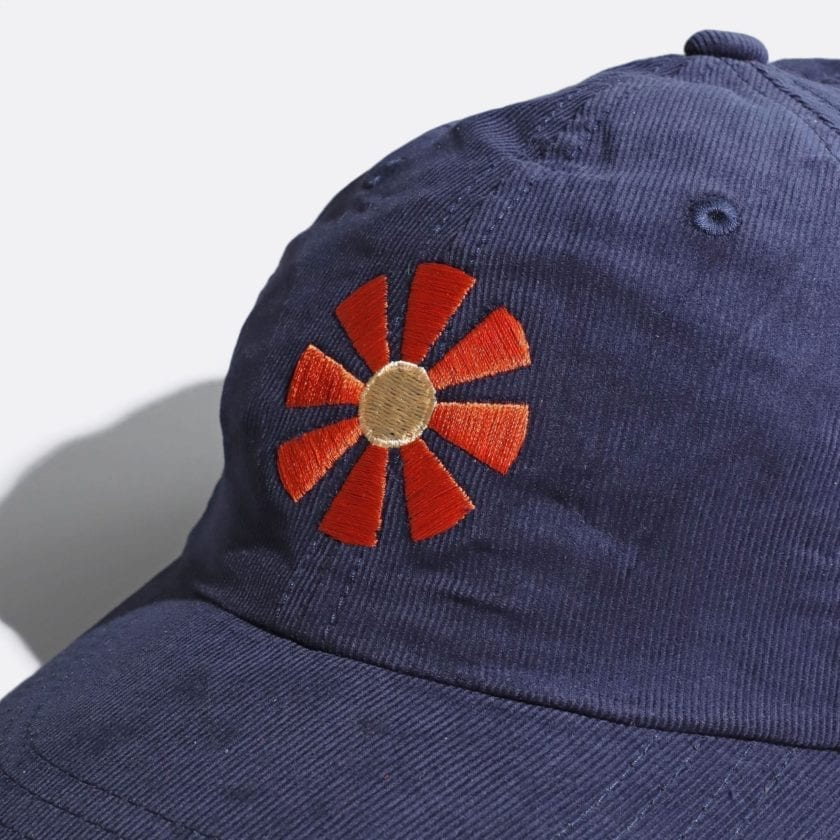 Far Afield Carlos Cap – Sunbeam Embriodery a Navy Up-Cycled Cotton Corduroy Fabric Embriodered Cap North American Casual 2