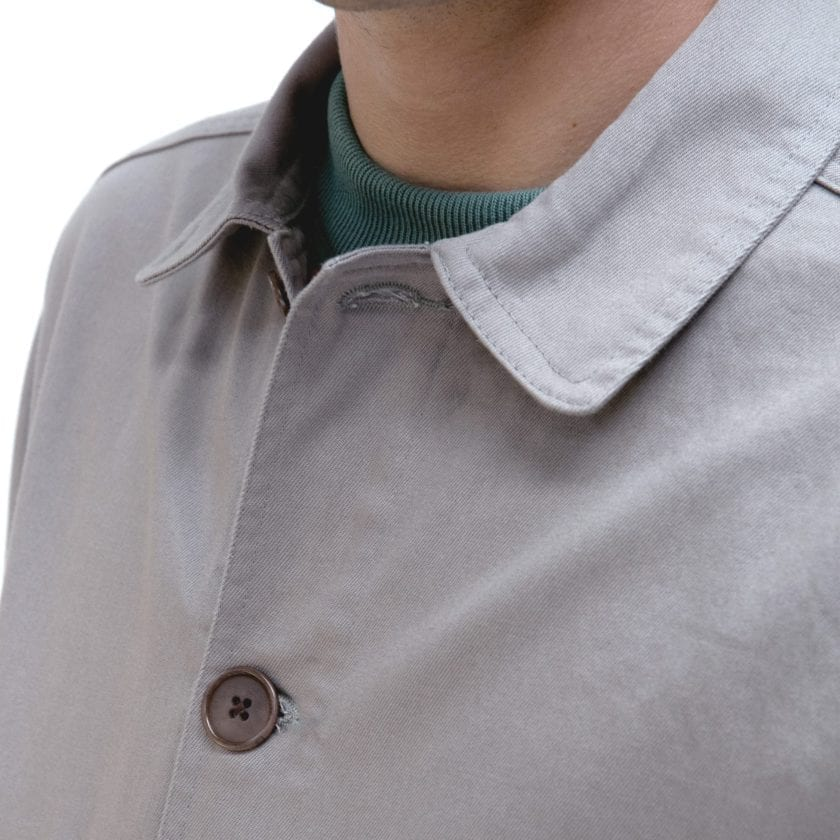 Far Afield Station Jacket a Cloudburst Grey Organic Cotton Twill Fabric Lightweight Utility Overshirt Classic Work 3