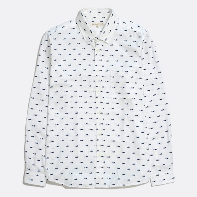 Far Afield Cognito Long Sleeve Shirt a White Sand Organic Baby Twill Cotton Fabric Long Sleeve Shirt Smart Casual