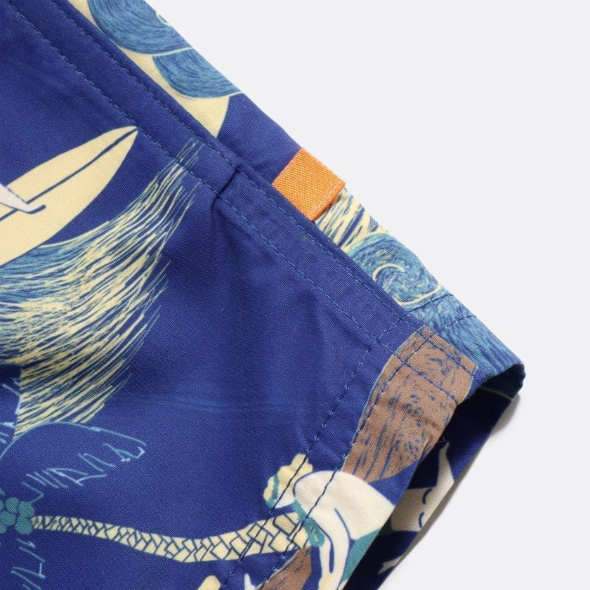 Far Afield Printed Swimshorts a Navy Recycled Plastic Sustainable Fabric 2