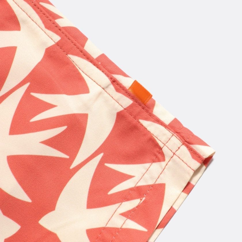 Far Afield Printed Swimshorts a Arabesque Orange Recycled Plastic Sustainable Fabric 2