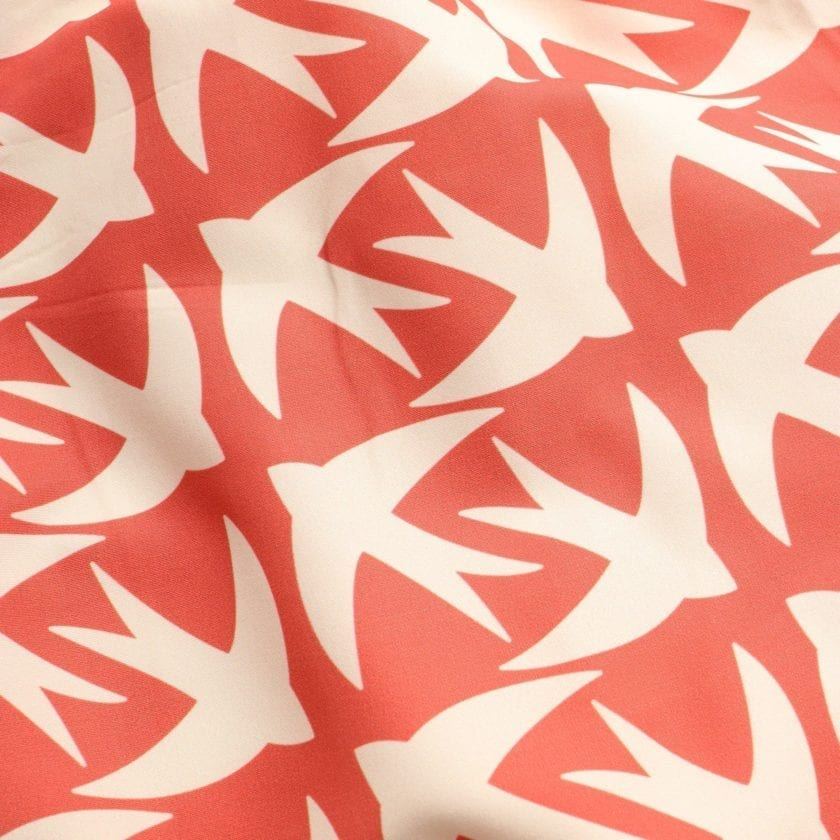 Far Afield Printed Swimshorts a Arabesque Orange Recycled Plastic Sustainable Fabric 3