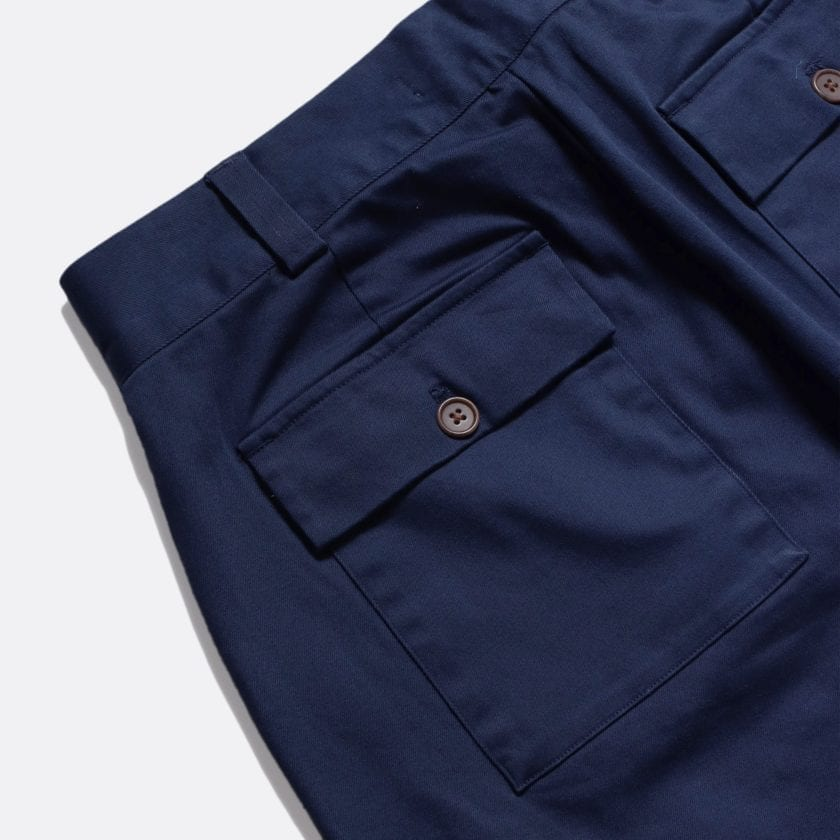 Far Afield Coup Trousers a Ensign Blue Organic Cotton Twill FabricClassic Work 3