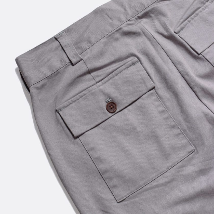 Far Afield Coup Trousers a Cloudburst Grey Organic Cotton Twill FabricClassic Work 3