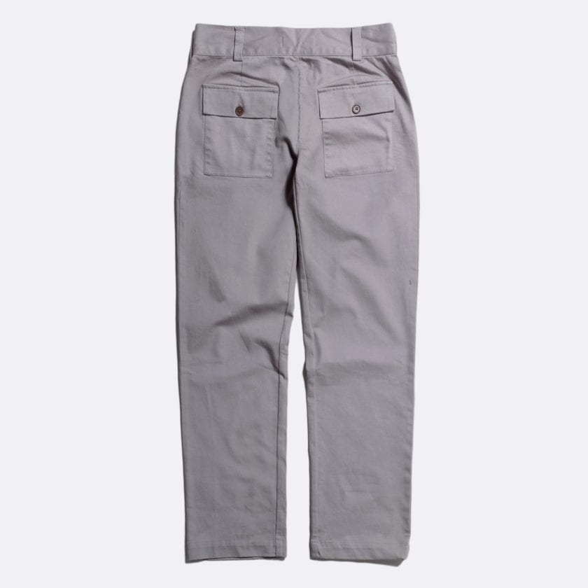 Far Afield Coup Trousers a Cloudburst Grey Organic Cotton Twill FabricClassic Work 4