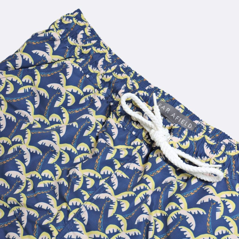 Far Afield x Selfridges Palm Print a Pink Recycled Plastic Floral Repeat Pattern Fabric Casual 2