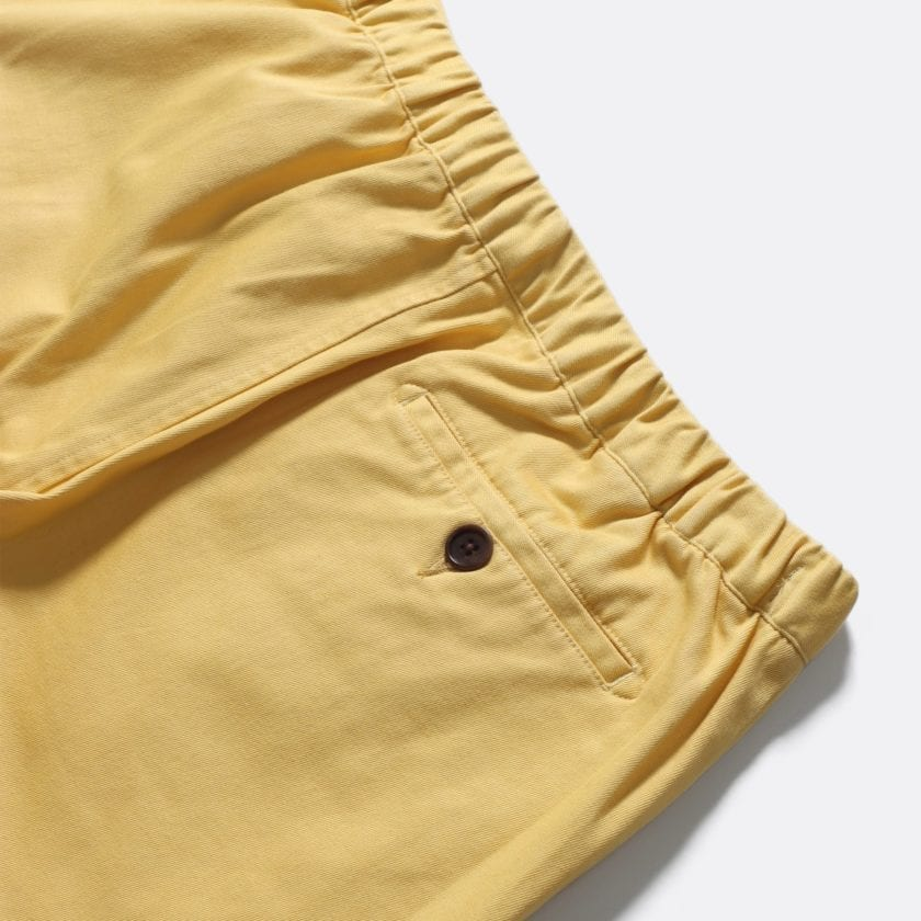 Far Afield Drawstring Shorts a Jojoba Yellow Organic Cotton Twill FabricCasual Basics 4