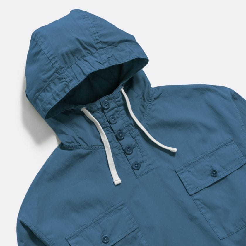 Far Afield Portree Smock a Ensign Blue BCI Cotton Portree Smock Jacket 2