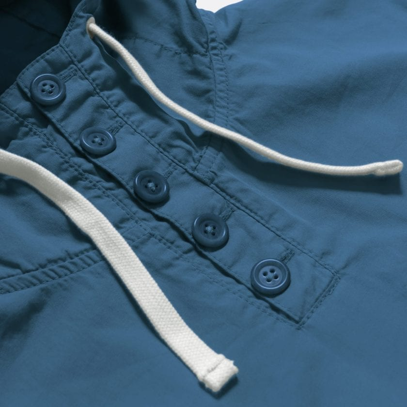 Far Afield Portree Smock a Ensign Blue BCI Cotton Portree Smock Jacket 3